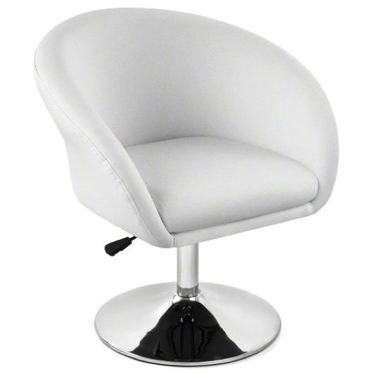 white leather round chair planet swivel chair hire gem exhibitions exhibition hire 22009 | Planet Swivel Chair White